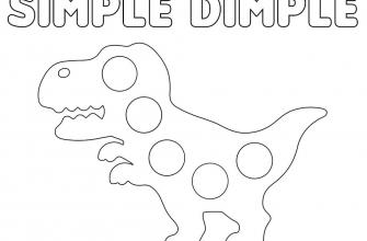 Раскраска антистресс поп ит и симпл димпл динозавр