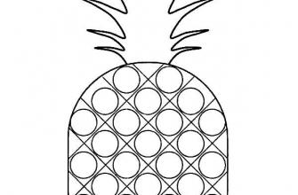 Раскраска поп ит ананас