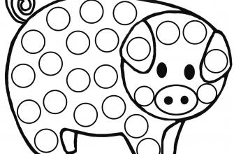 Раскраска поп ит свинка