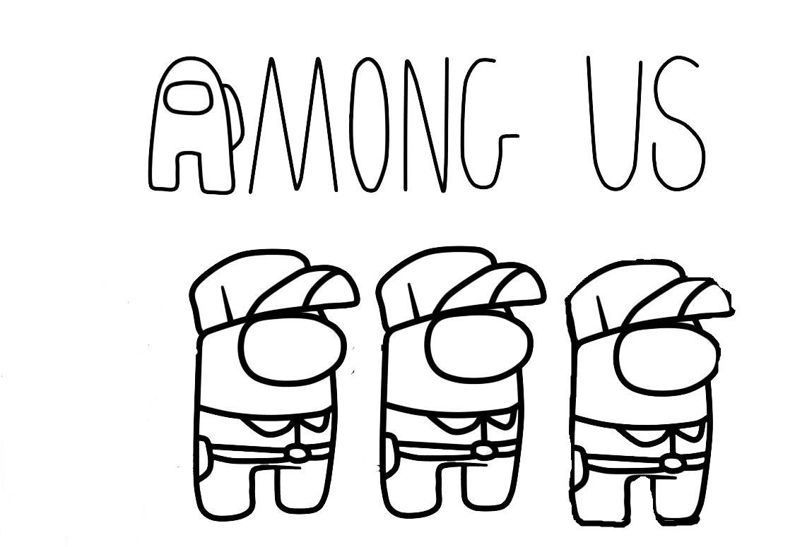 Раскраска амонг ас мобильная игра на vipraskraski.ru