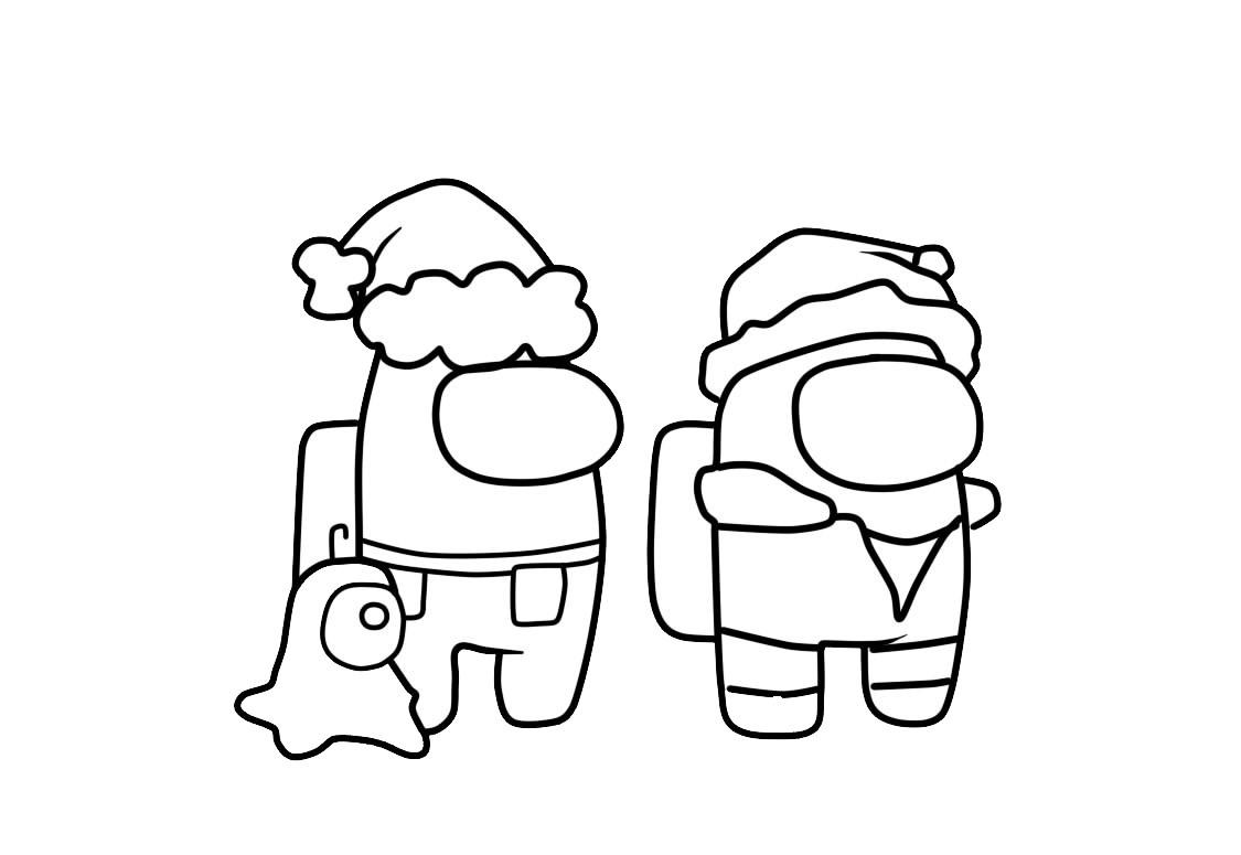 Раскраска амонг ас персонажи из игры с питомцами на vipraskraski.ru