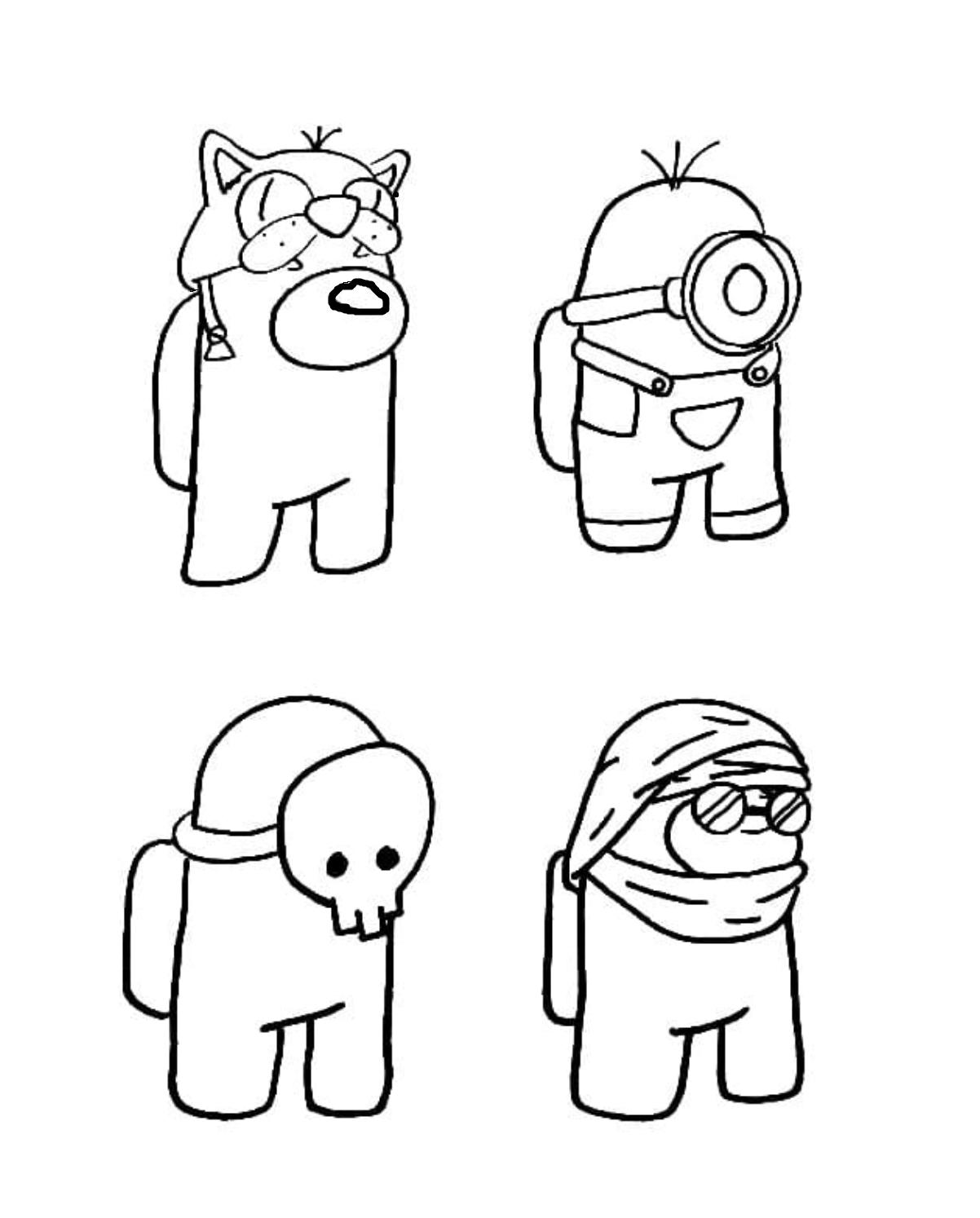 Раскраска амонг ас персонажи на vipraskraski.ru