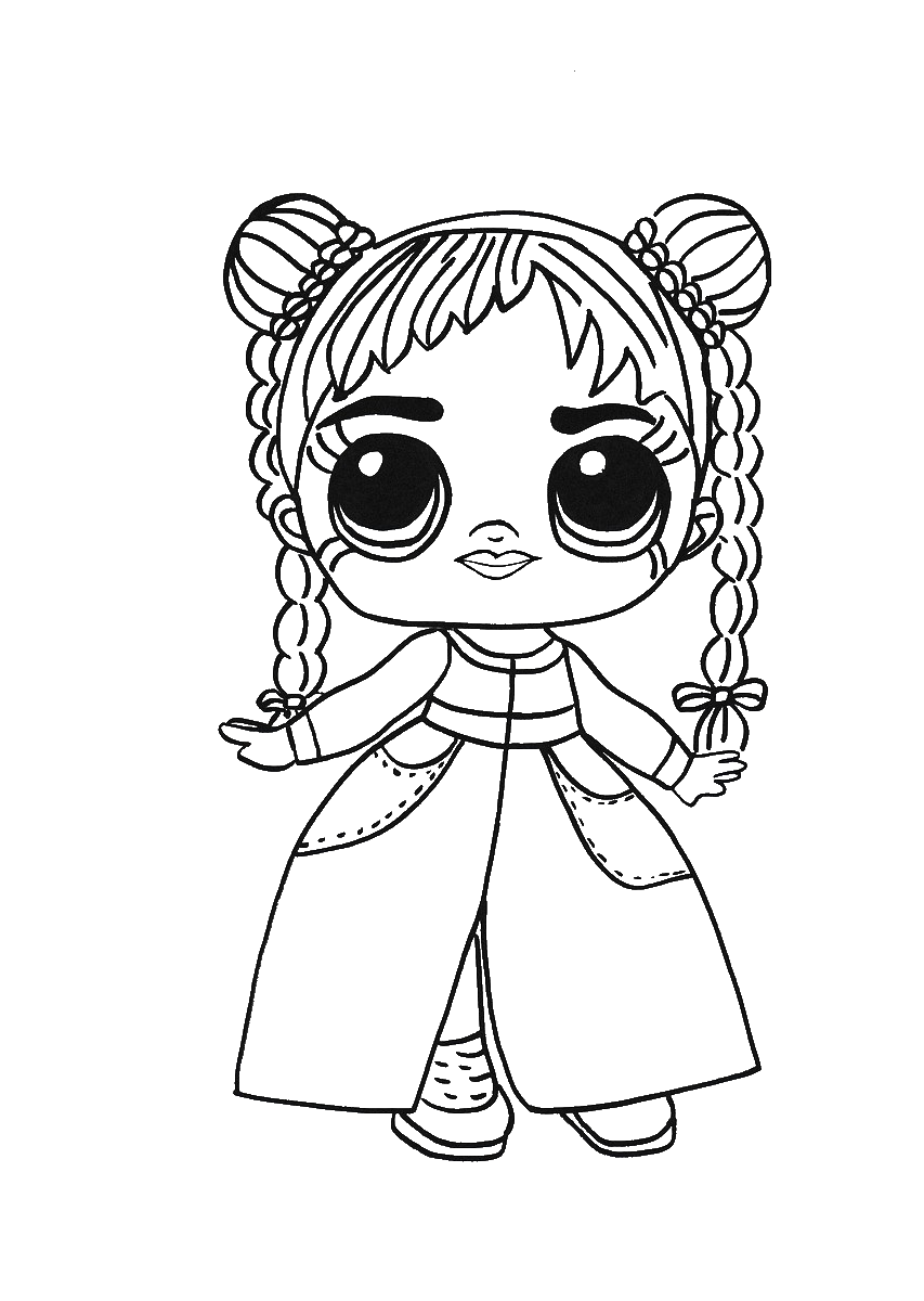 Раскраска больших кукол лол на vipraskraski.ru