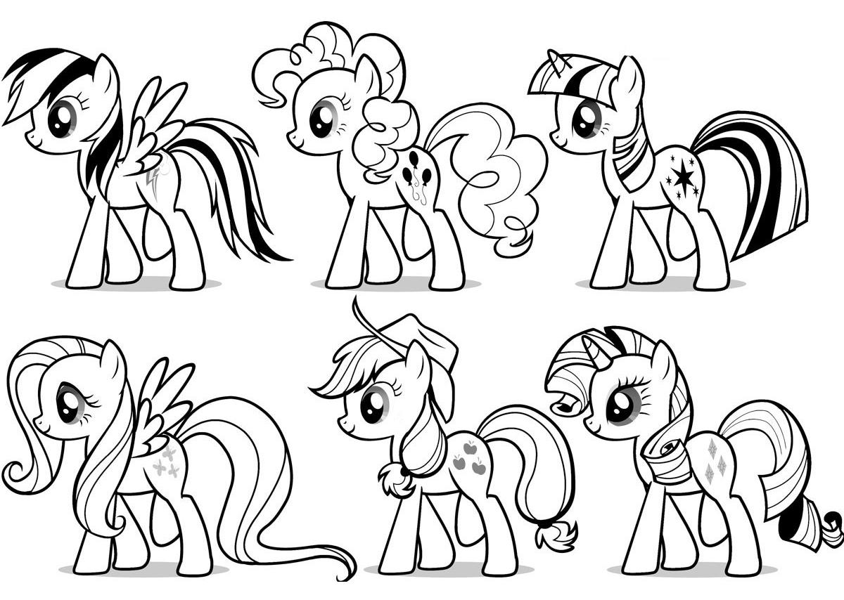 Раскраска все пони из май литл пони на vipraskraski.ru