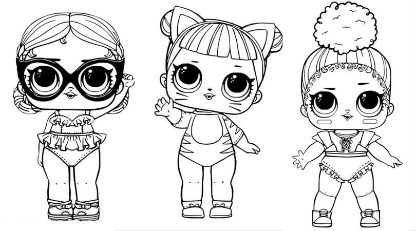 Раскраска всех кукол лол на vipraskraski.ru