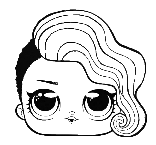 Раскраска голова лол на vipraskraski.ru