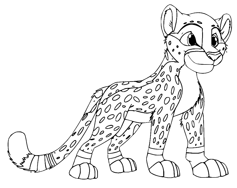Раскраска для девочек леопард на vipraskraski.ru