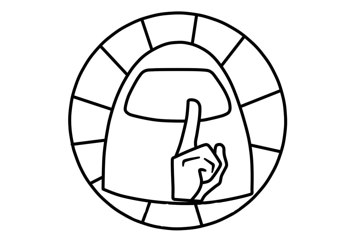 Раскраска значок амонг ас на vipraskraski.ru