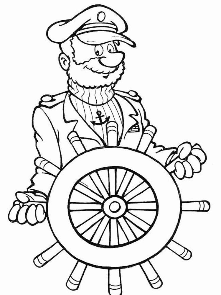Раскраска капитан корабля на vipraskraski.ru
