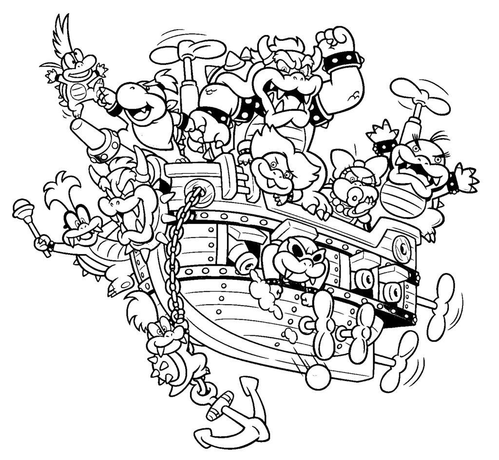 Раскраска корабль боузера на vipraskraski.ru