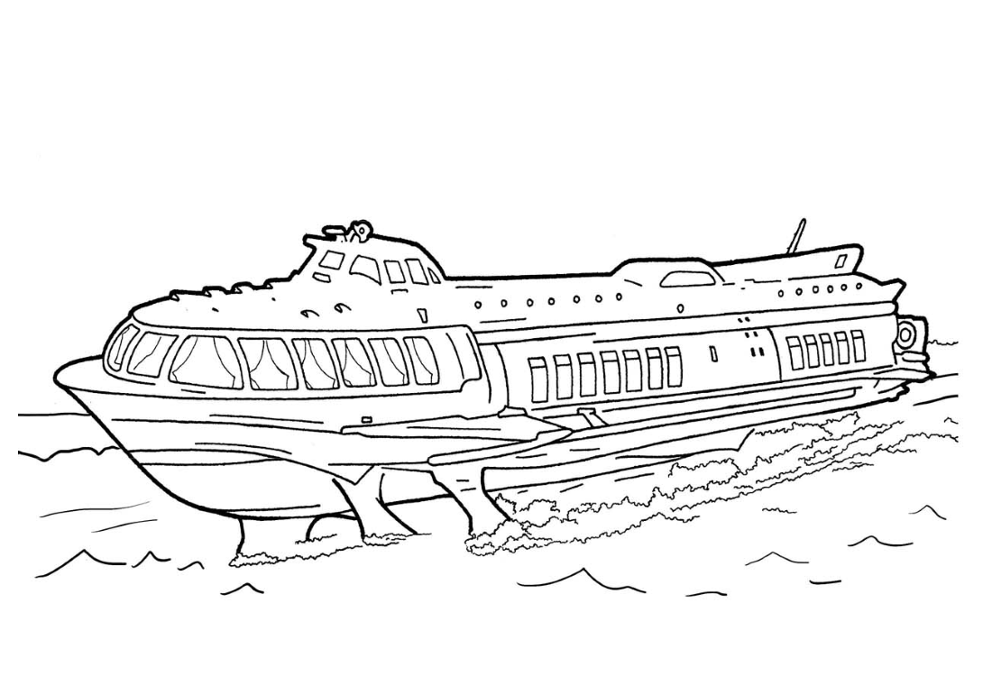 Раскраска корабль метеор на vipraskraski.ru