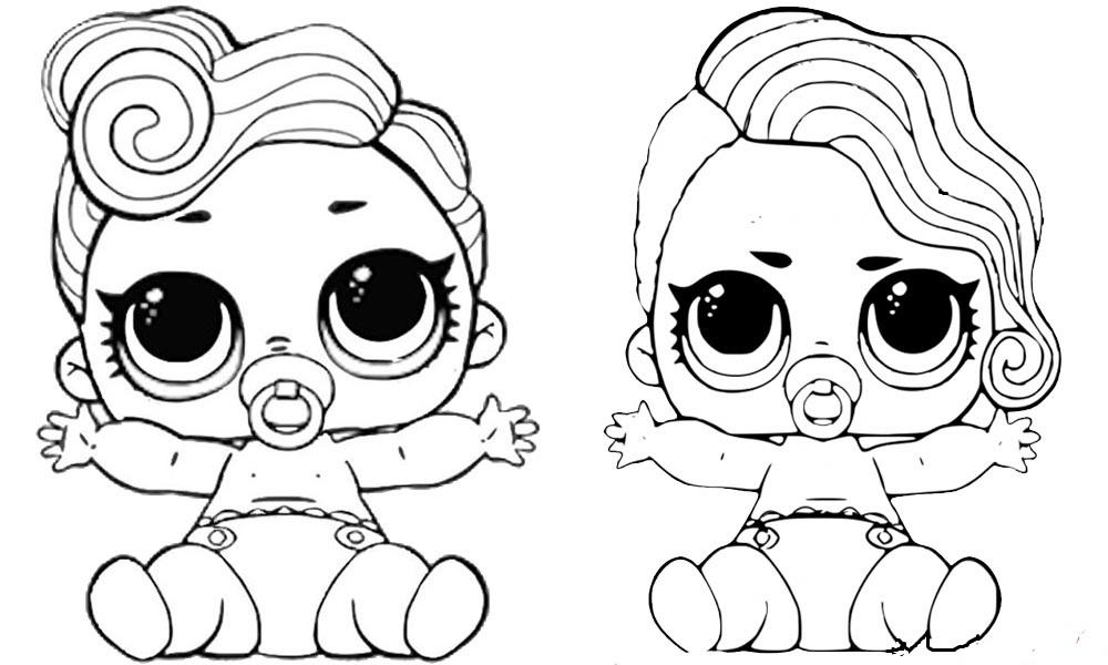 Раскраска куколки лол маленькие сестрички декодер на vipraskraski.ru