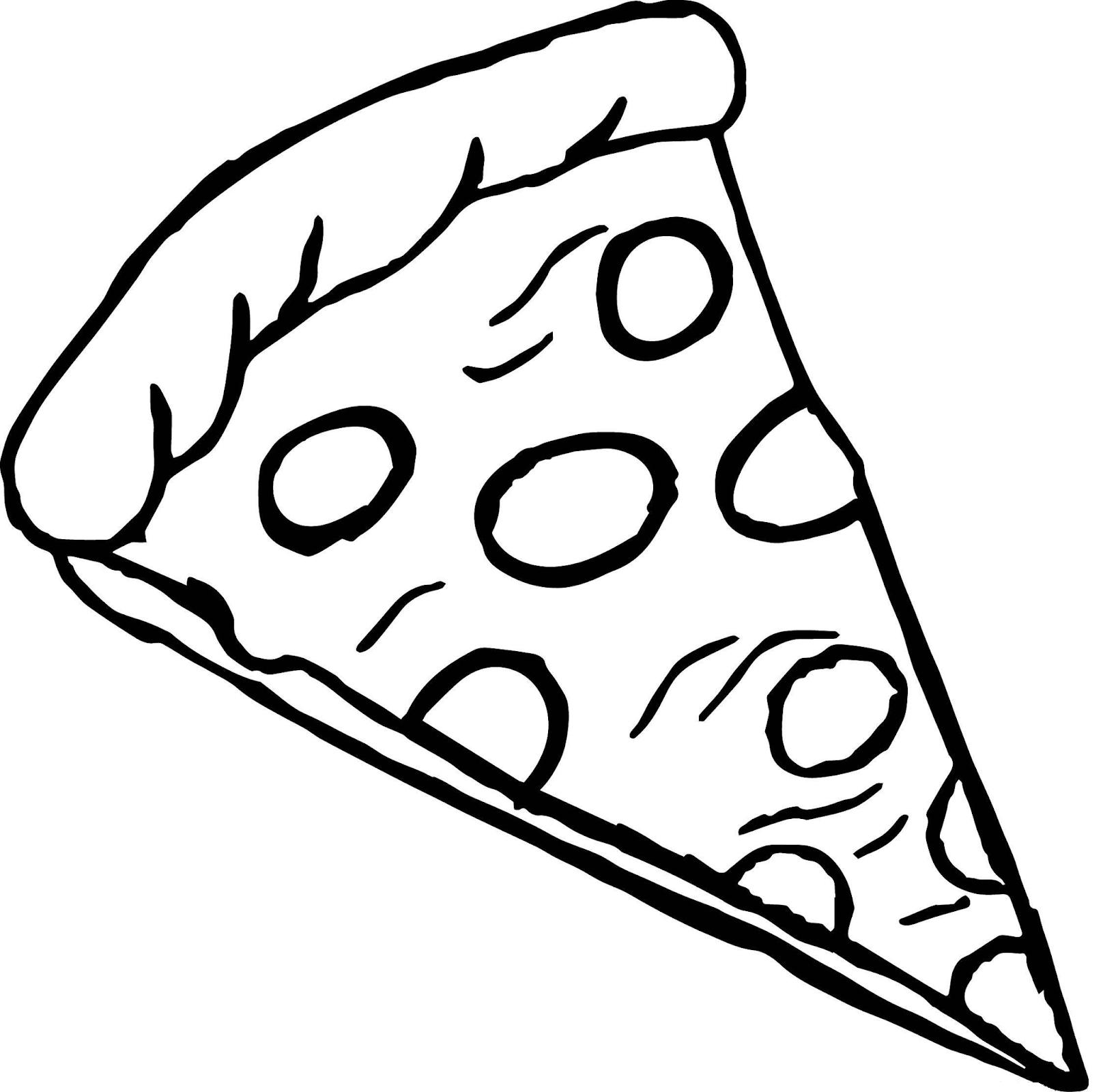 Раскраска кусочек пиццы на vipraskraski.ru