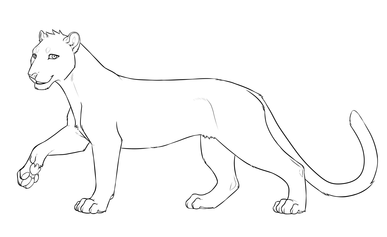 Раскраска леопард без пятен на vipraskraski.ru