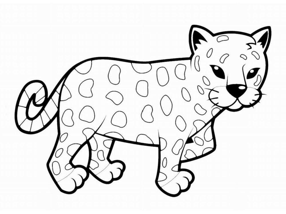 Раскраска леопард детская на vipraskraski.ru