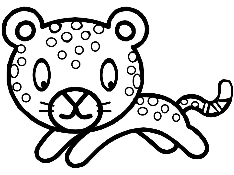Раскраска леопард для малышей на vipraskraski.ru
