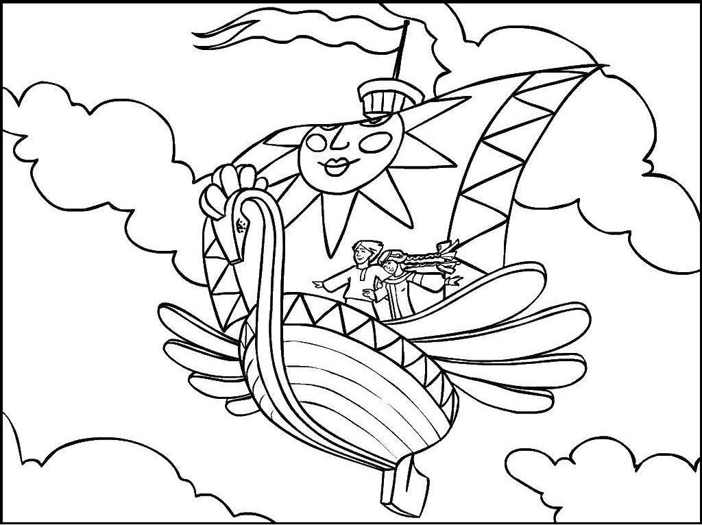 Раскраска летающий корабль на vipraskraski.ru