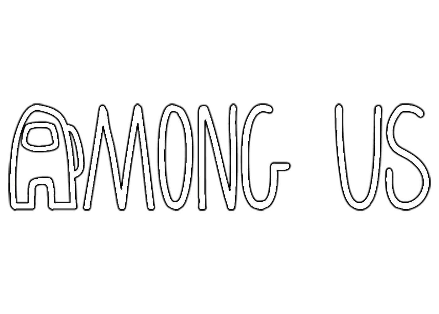 Раскраска логотип амонг ас на vipraskraski.ru