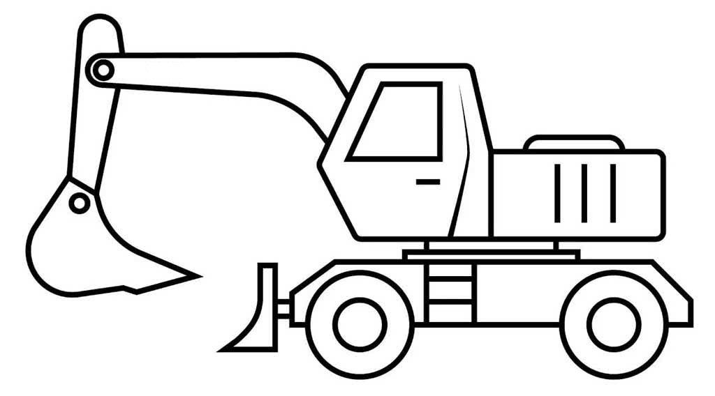 Раскраска машина с экскаватором на vipraskraski.ru