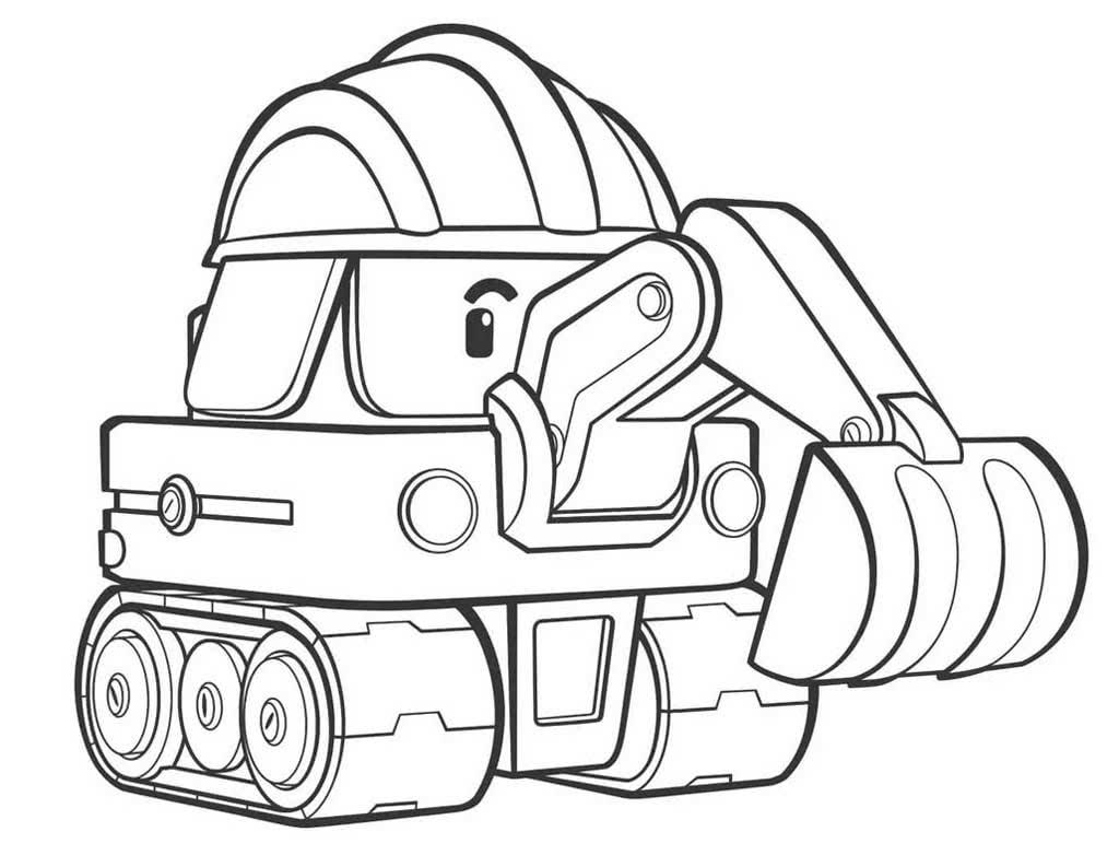 Раскраска машины экскаваторы на vipraskraski.ru