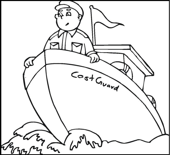 Раскраска моряк на корабле на vipraskraski.ru
