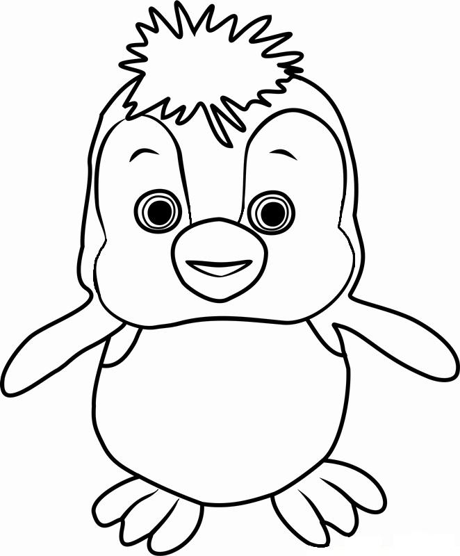 Раскраска пингвиненок Маша и Медведь на vipraskraski.ru