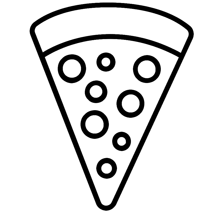 Раскраска пицца кусок на vipraskraski.ru