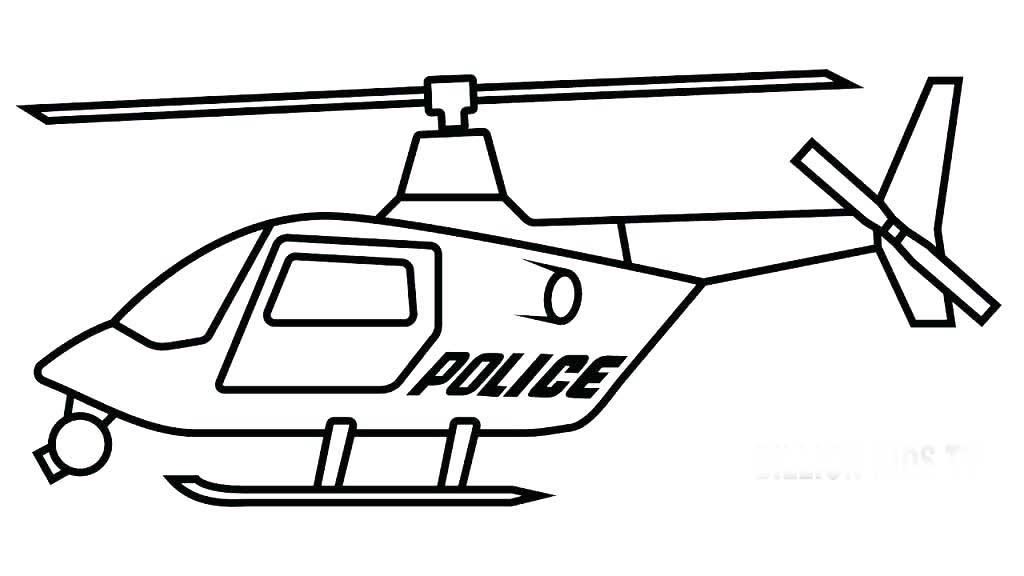 Раскраска полицейский вертолет