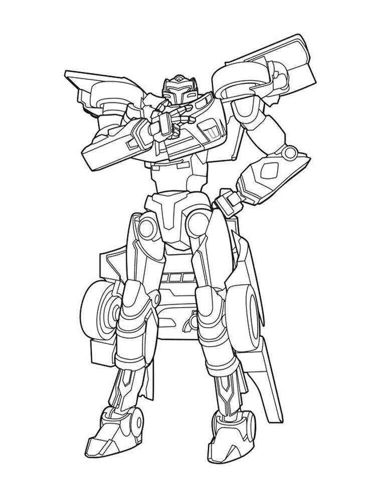 Раскраска робот игрек вертолет