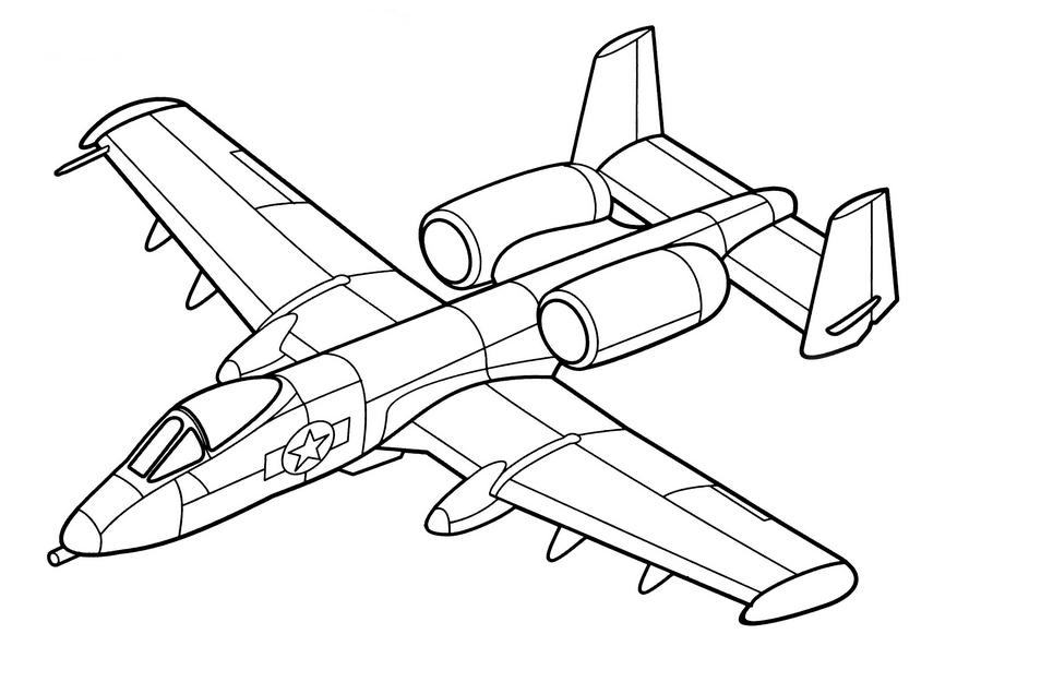 Раскраска русский военный самолет