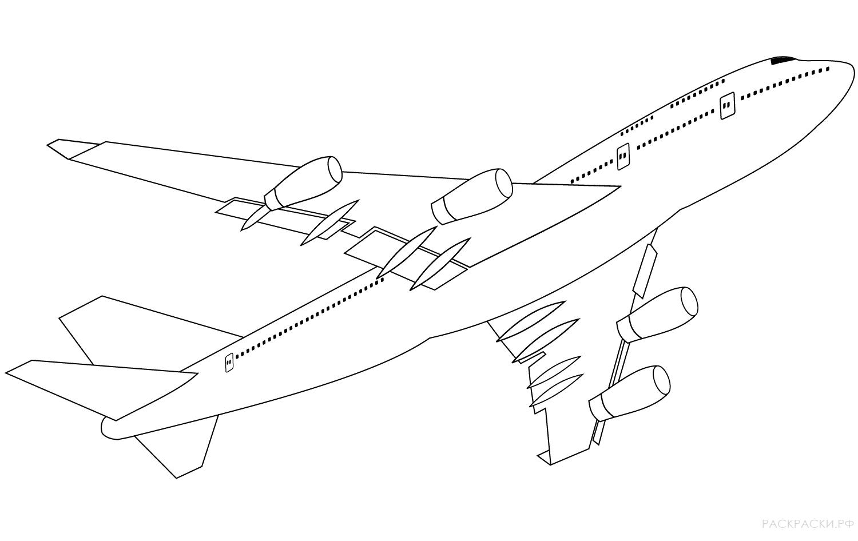Раскраска самолет Боинг