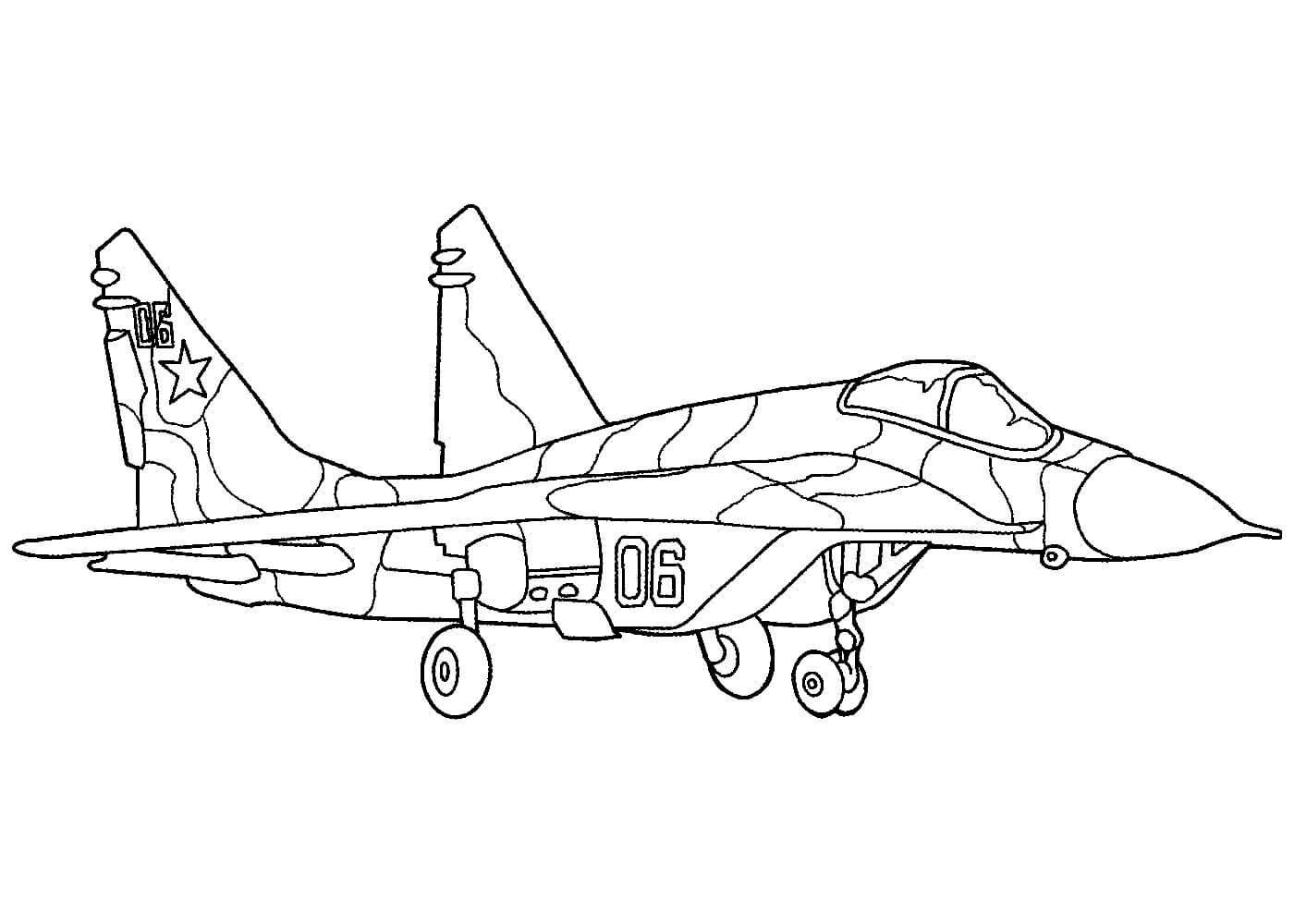 Раскраска самолет бомбардировщик
