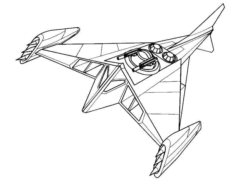 Раскраска самолет будущего