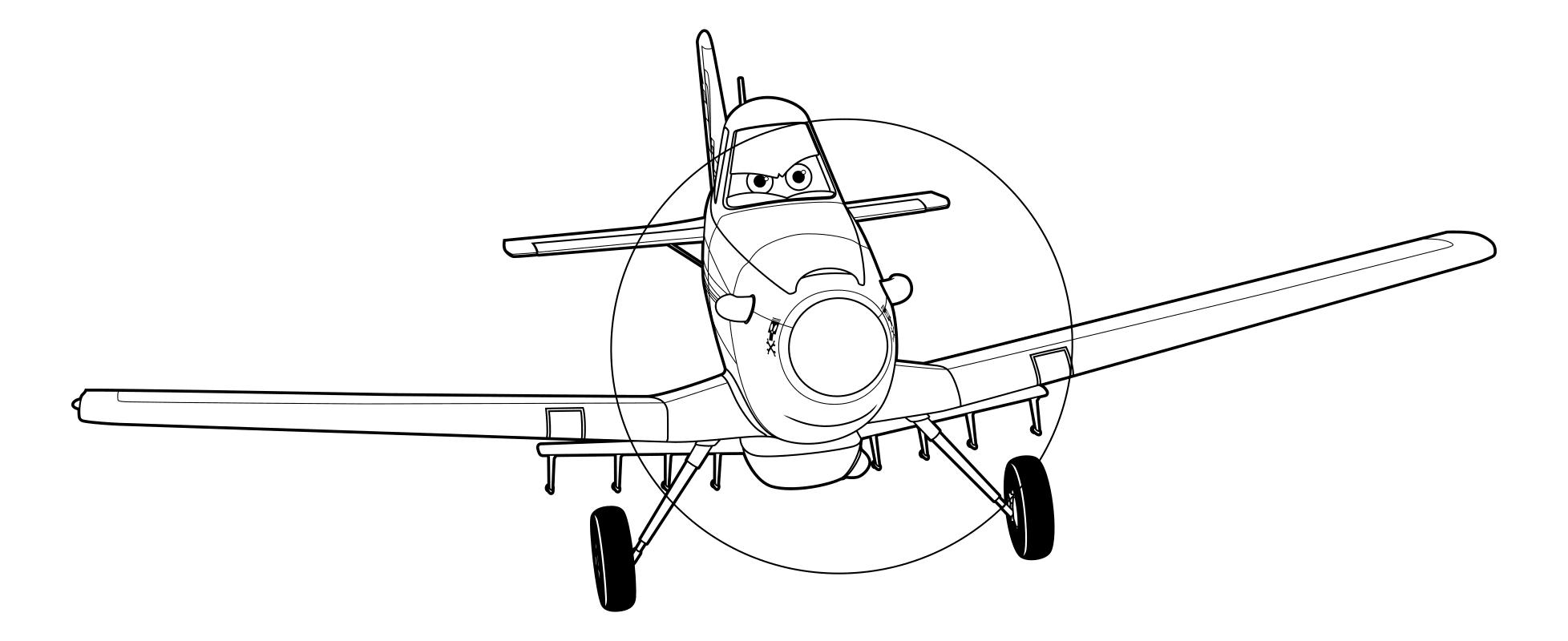 Раскраска самолет из мультика