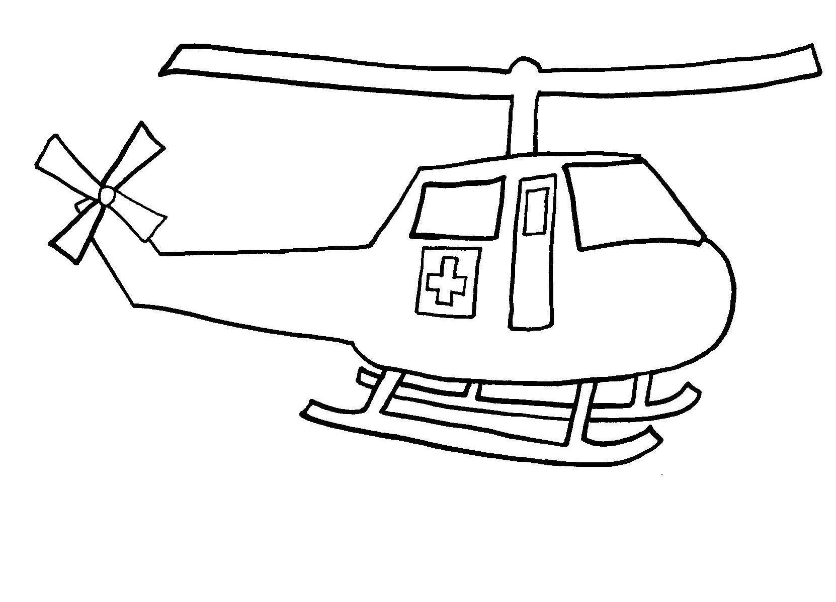 Раскраска скорая помощь вертолет