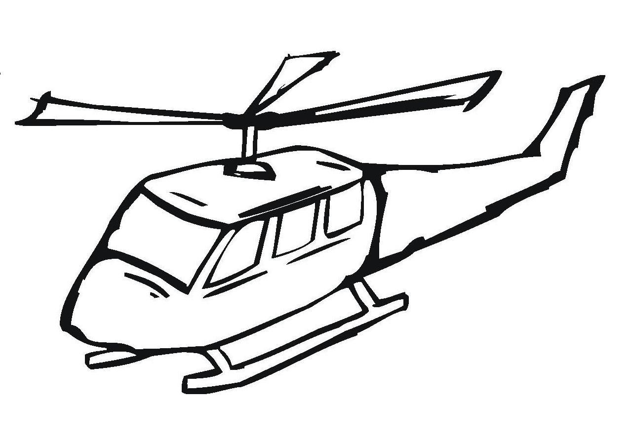 Раскраска спасательный вертолет
