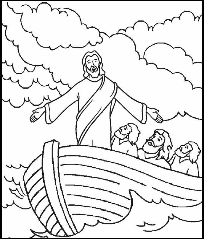 Раскраска ученики иисуса в лодке на vipraskraski.ru