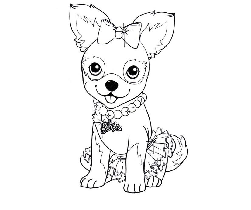 Раскраска щенки барби на vipraskraski.ru