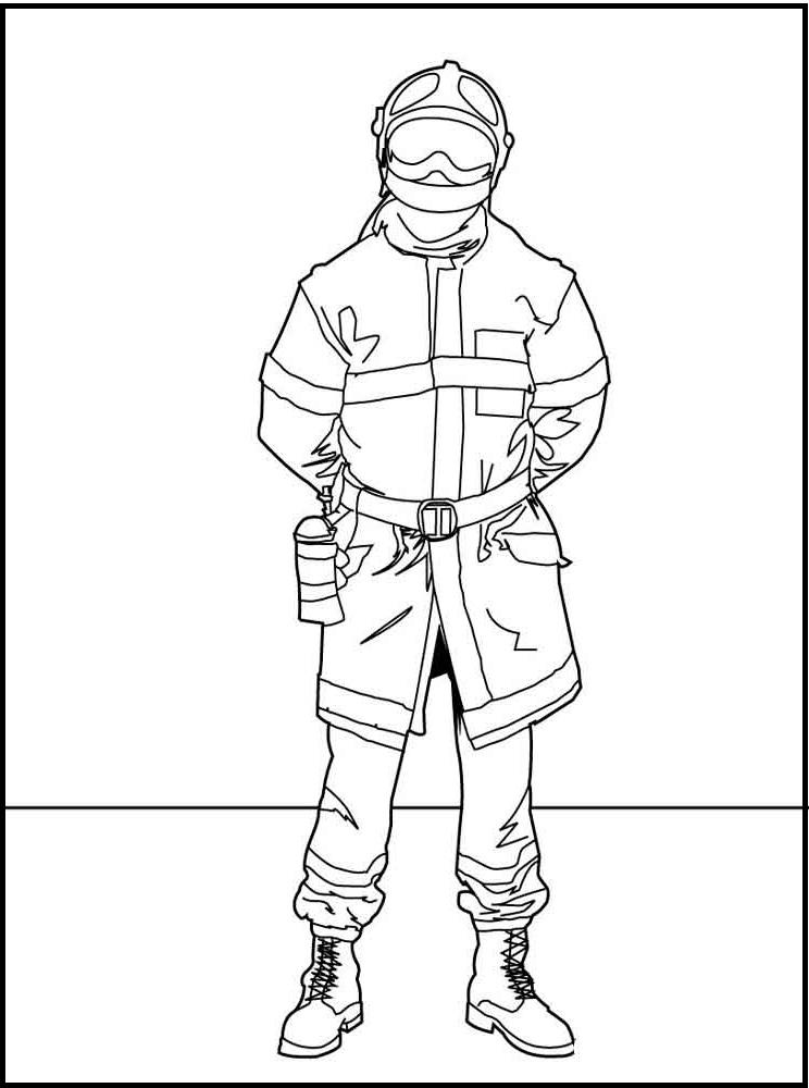 Раскраска экипировка пожарного на vipraskraski.ru