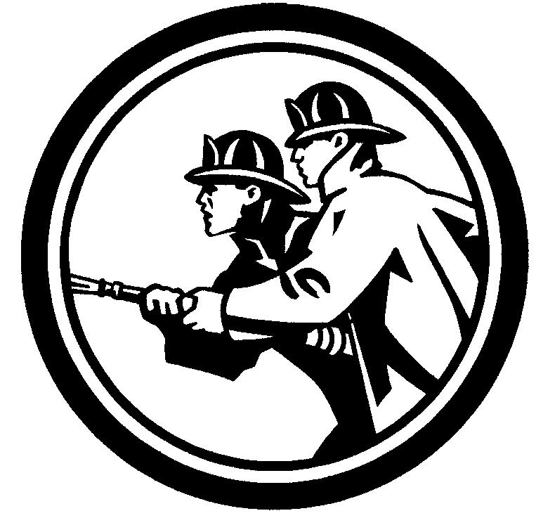 Раскраска эмблема пожарного на vipraskraski.ru
