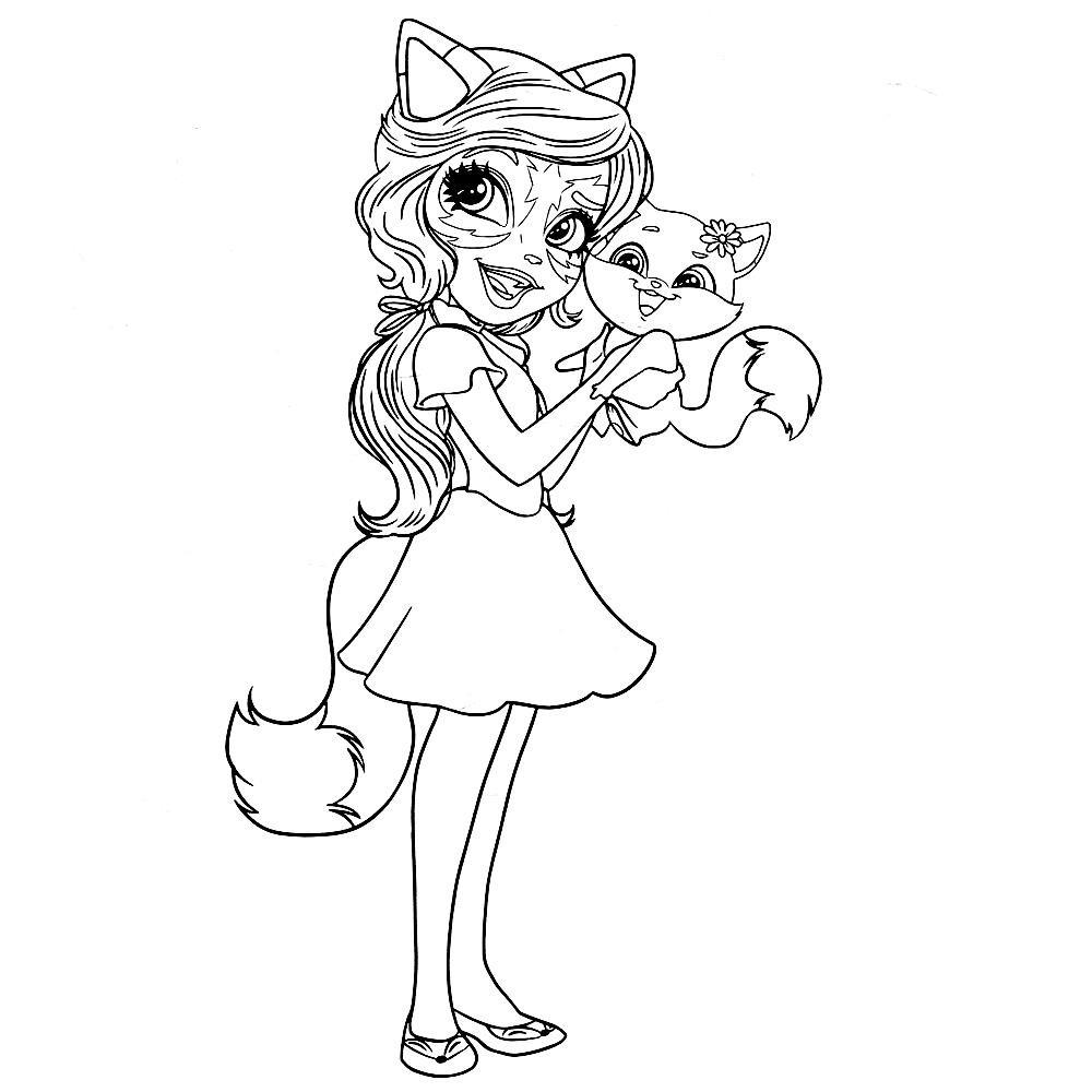 Раскраска энчантималс леопард на vipraskraski.ru